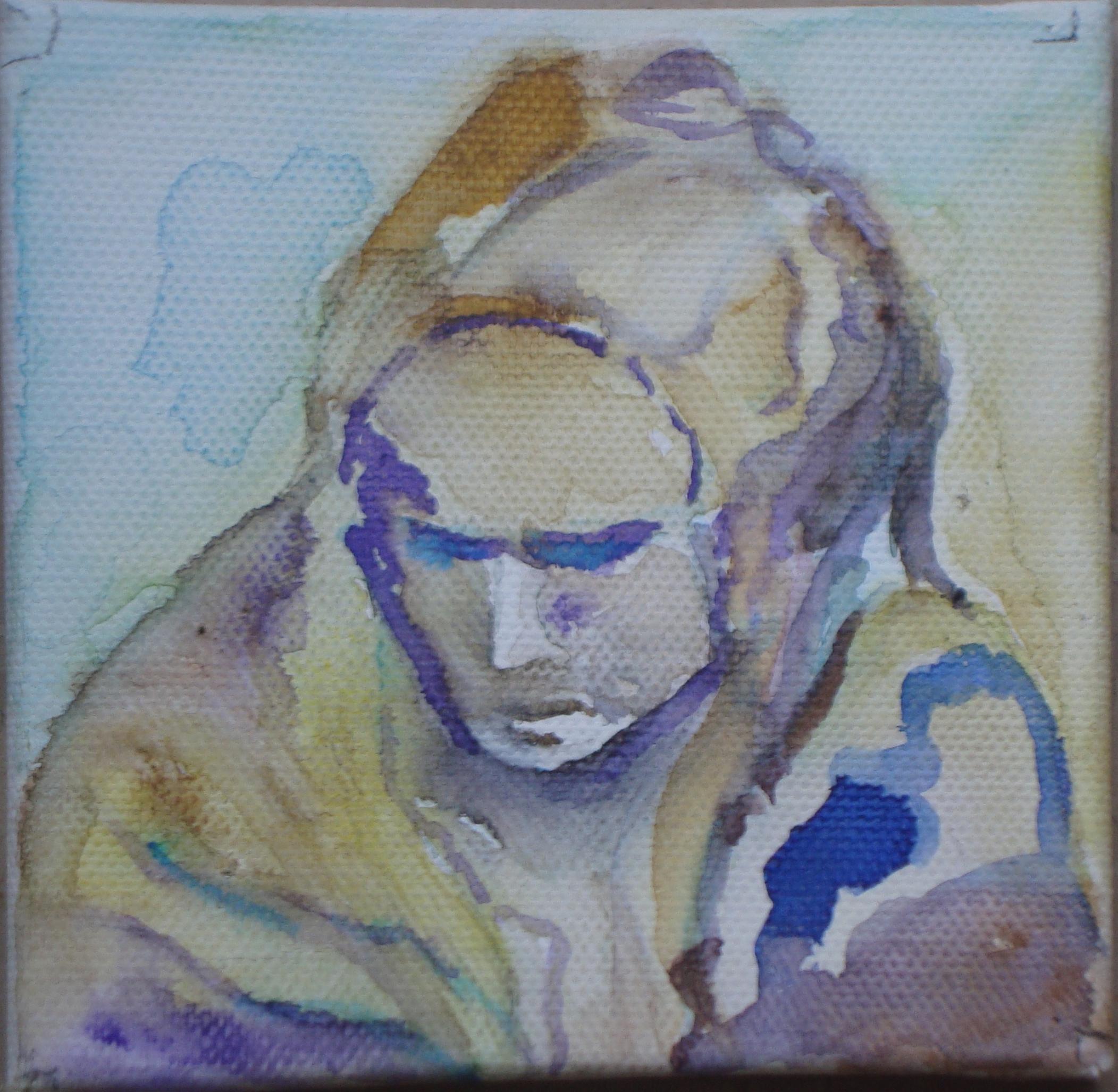 Pieta Aquarell 10 x 10 cm - mit Abstand zu genießen!