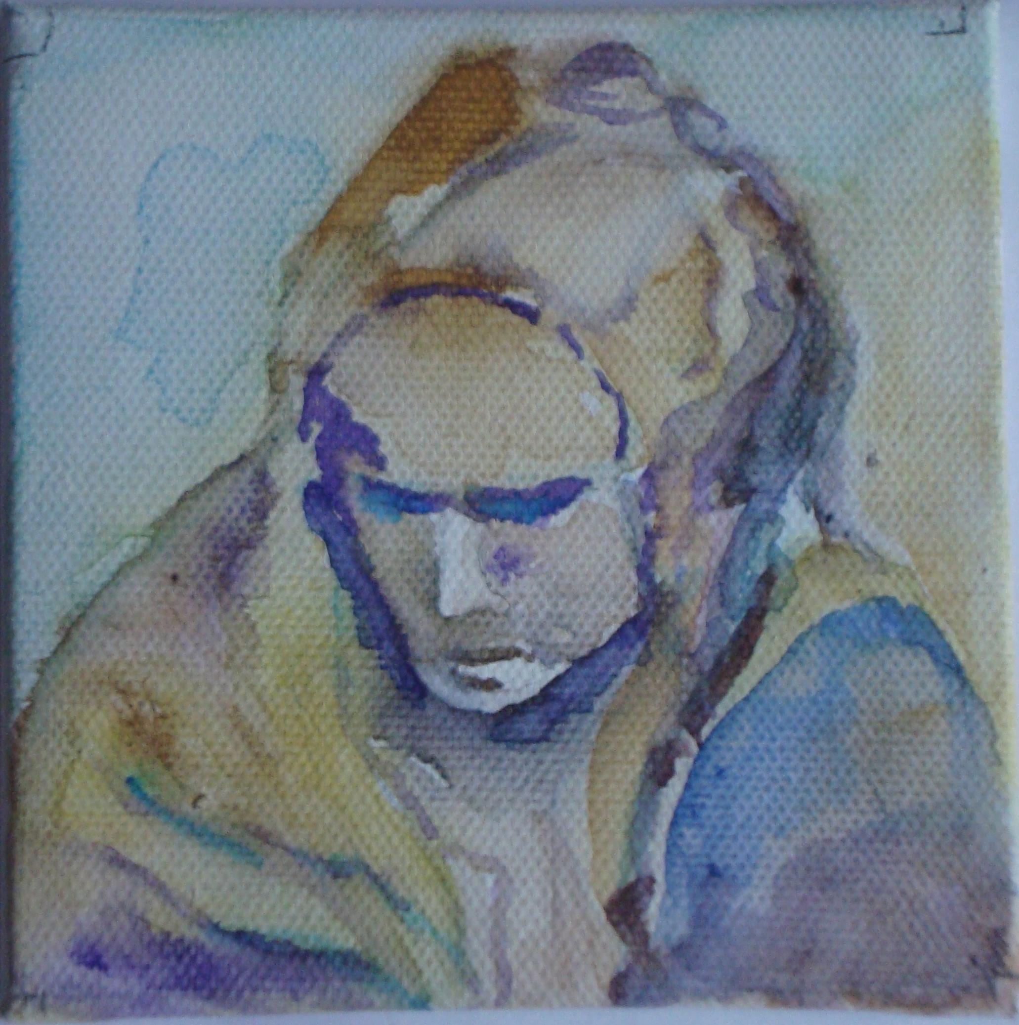 Pieta Aquarell 10 x 10 cm - mit Abstand zu genießen! 22.07.2015 abends