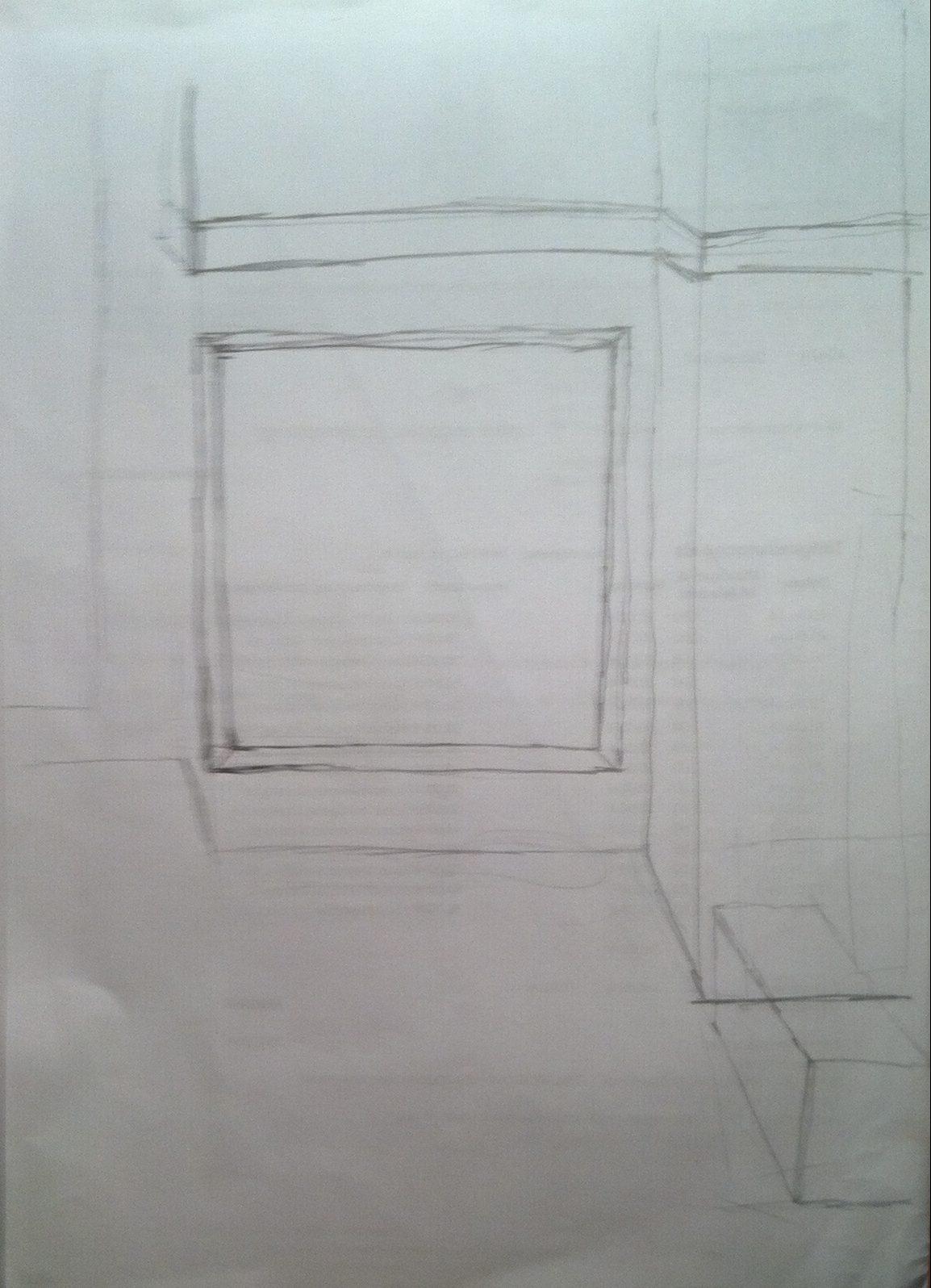 ein Platz für ein Bild an der Wand